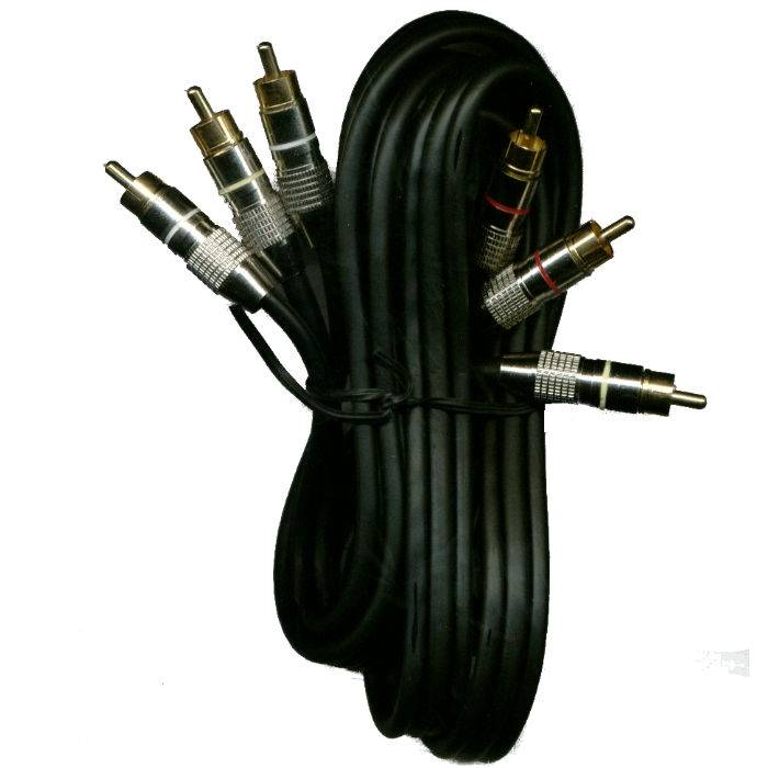 Cable 3 Rca X 3 Rca Metalico