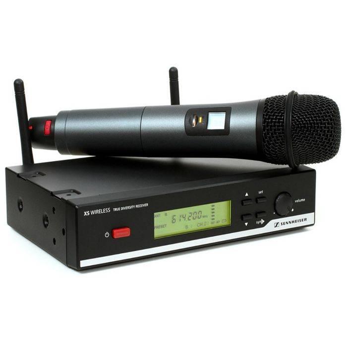 Microfono Inalambrico De Mano Uhf Con 2 Frec. True Diversity