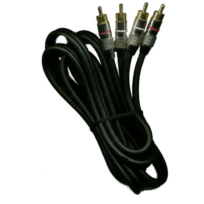 Cable 2 Rca X 2 Rca Metalico