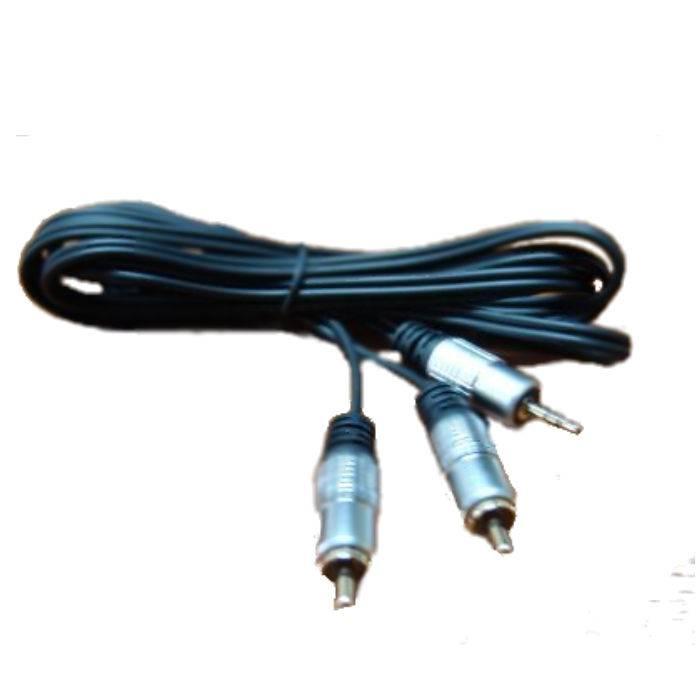 Cable Plug 3.5st A 2rca Metalico