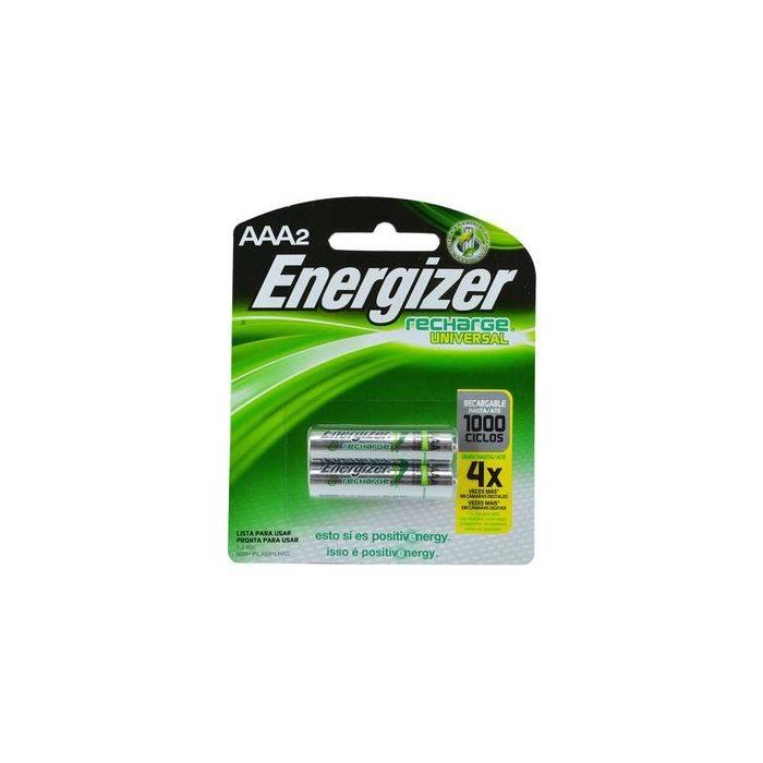 #pila Energizer Aaa Recargable 700mah Nh12 Blister 2pcs