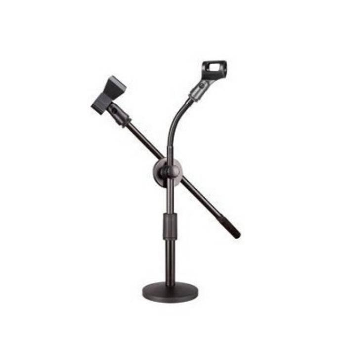 Pie De Microfono Doble De Mesa Pmm03d