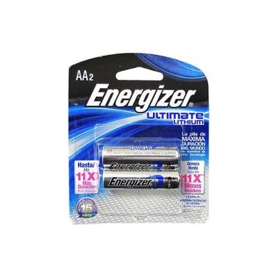 #pila Energizer Aa De Litio Ultimate 91l Blister 2pcs Precio Por Unidad