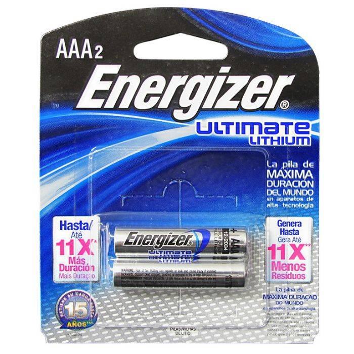 #pila Energizer Aaa De Litio Ultimate 92l Blister 2pcs