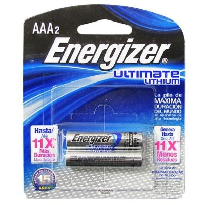 #pila Energizer Aaa De Litio Ultimate 92l Blister 2pcs Precio Por Unidad
