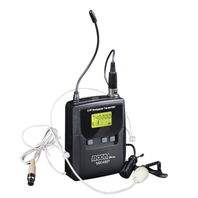 Microfono Inalamb De Uhf Body Pack Con Mic. De Vincha + Mic Solapa