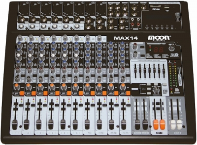 (*) Mixer Potenciado De 14 Canales Con Puerto Usb