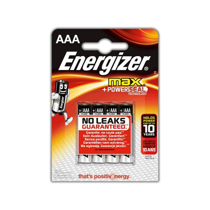 Pila Energizer Aaa E-92 Blister 4pcs