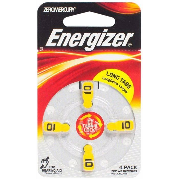 #pila Energizer De Audiologia Aid Az10 Zm Blister 4pcs
