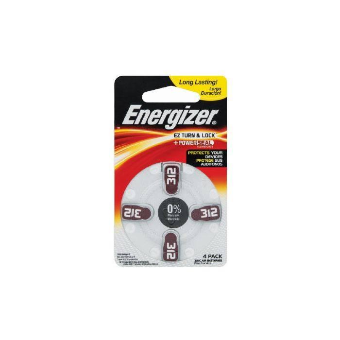 #pila Energizer De Audiologia Aid Az312 Zm Blister 4pcs Precio Por Unidad