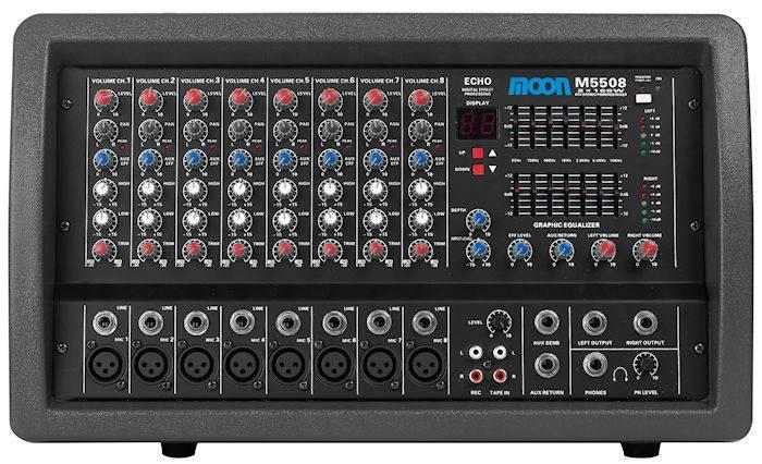 (*) Mixer Moon 8 Canales C/amp.