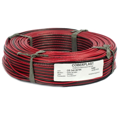 Cable Bafle 2x050 Rojo/negro