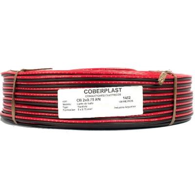 Cable Bafle 2x075 Rojo/negro