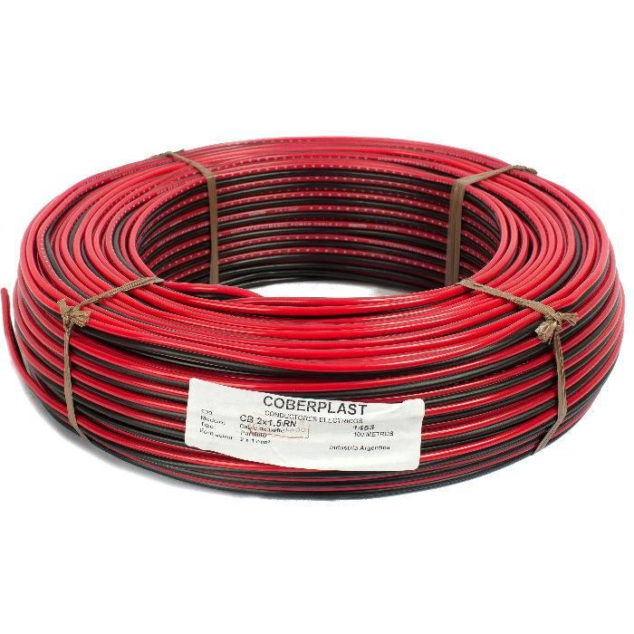 Bobina De 400m Cable Bafle 2x1.5 Rojo/negro