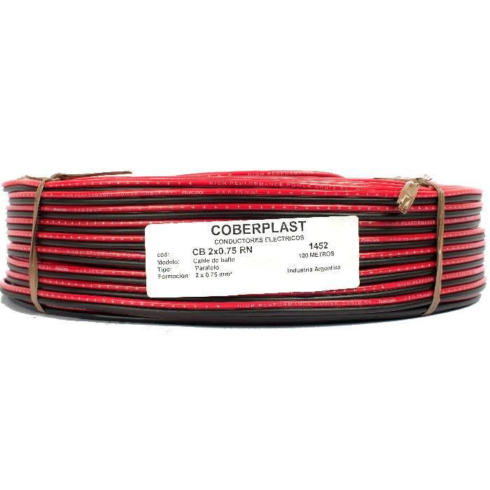 Bobina Cable 2x75 Rojo/negro