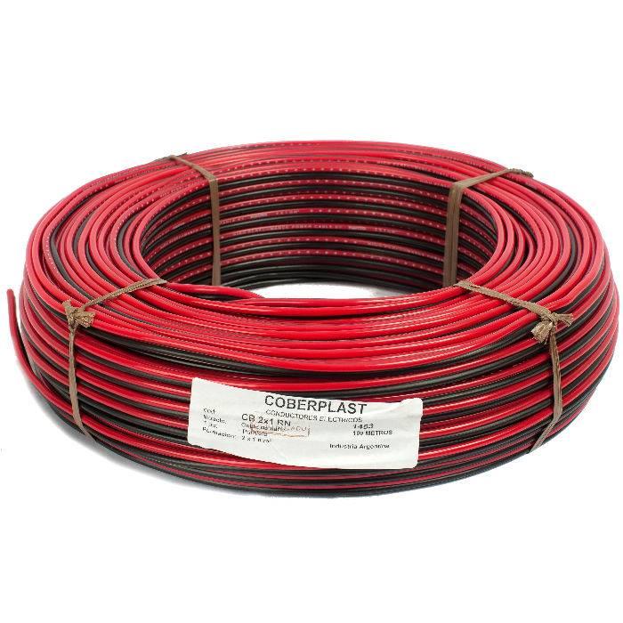 Bobina Cable Bafle 2x1 Rojo/negro