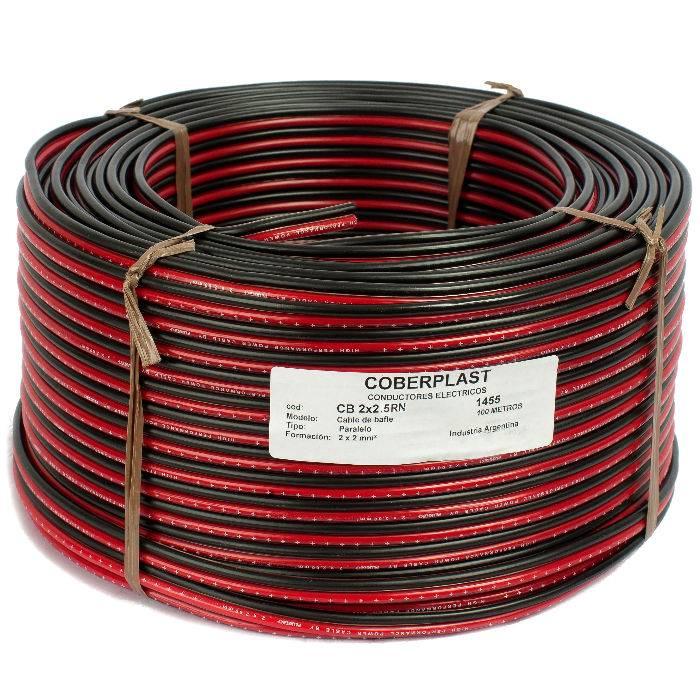 Bobina De 300m Cable Bafle 2x2.5 Rojo/negro