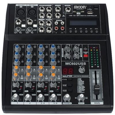 (*) Mixer De 6 Canales Con Usb Inc. Fuente