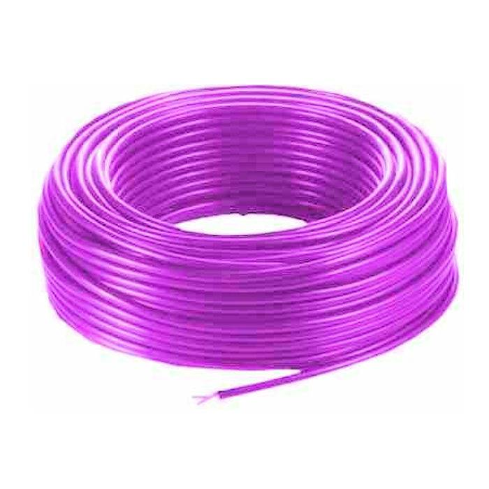 Cable Mic.6 Mm Mono Fl.violeta