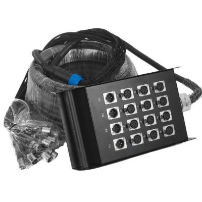 Pachera De 16 Canales (12 Envios Y 4 Retornos)  C/cable De 20mts