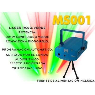 Mini Laser Incluye Fuente
