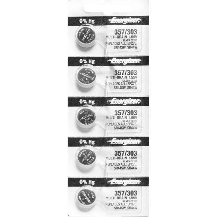 Pila Energizer Para Reloj 357/303 Blister 5pcs