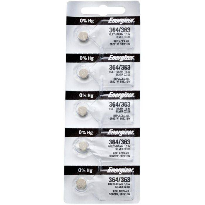 Pila Energizer Para Reloj 364/363 Blister 5pcs