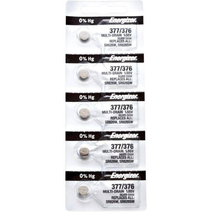 Pila Energizer Para Reloj 377/376 Blister 5pcs