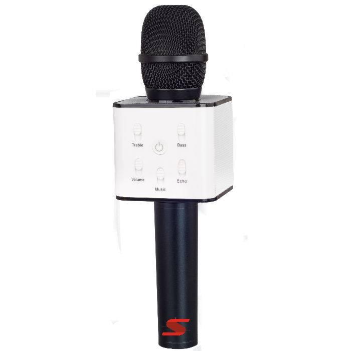 (**) MicrÓfono Senon Q7 Con Bt - Karaoke - Puerto Usb- Bat.y Estuche-negro