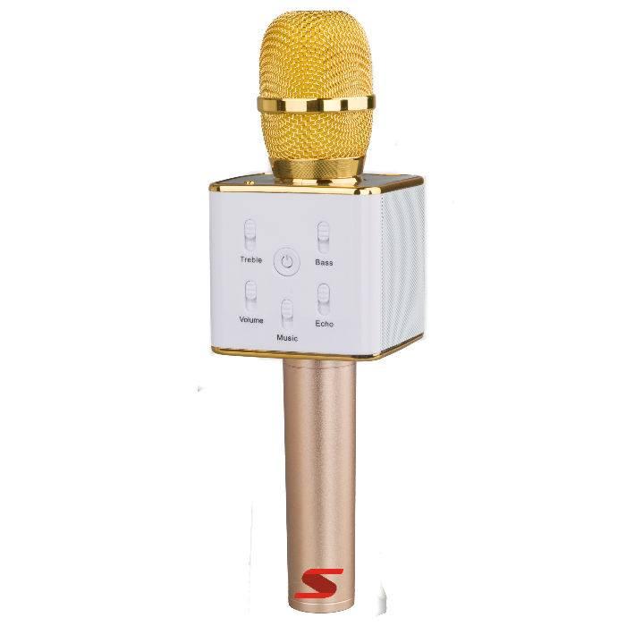 MicrÓfono Senon Q7 Con Bt - Karaoke - Puerto Usb- Bat. Y Estuche -dorado**