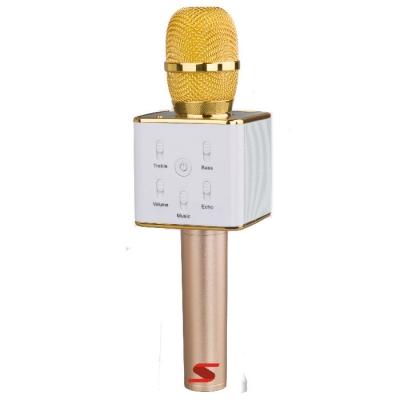 (**) MicrÓfono Senon Q7 Con Bt- Karaoke- Puerto Usb- Bat.y Estuche -dorado
