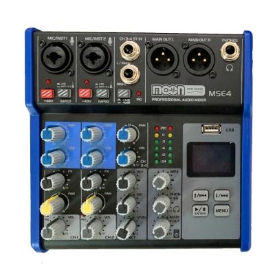 (*) Consola De 4 Canales Con Mp3,rec Effect
