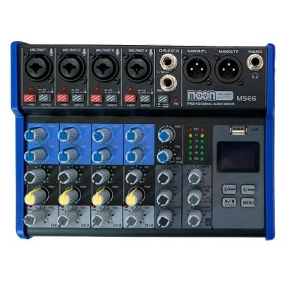(*) Consola De 6 Canales Con Mp3, Rec Effect