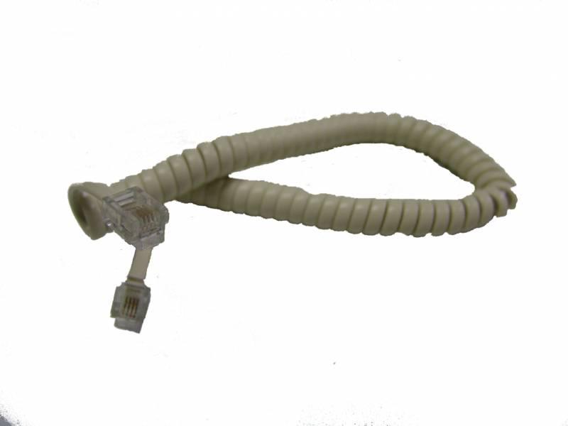 Cable Espiralado 4 Cond. Blanco De Pared