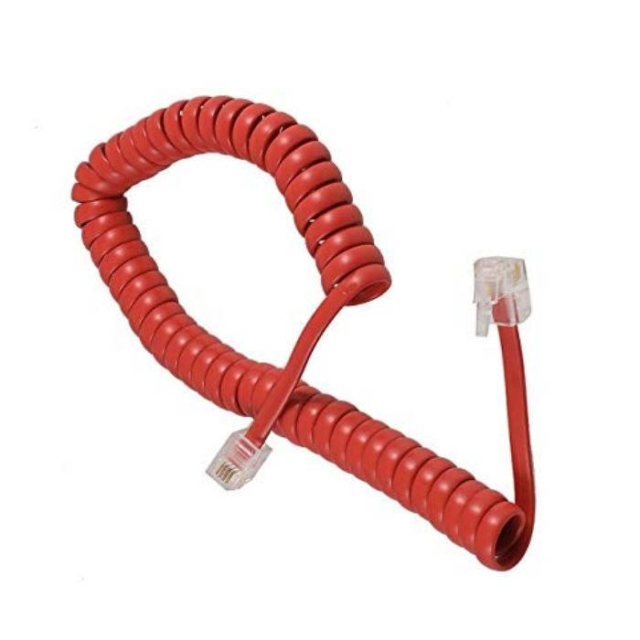 Cable Espiralado 4 Conductores Rojo