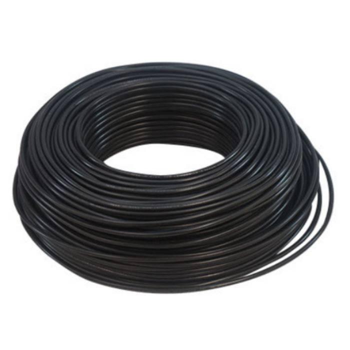 Cable De Mic. 6mm Mono Negro Nacional