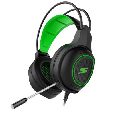 Auricular Para Gaming Negro Y Verde