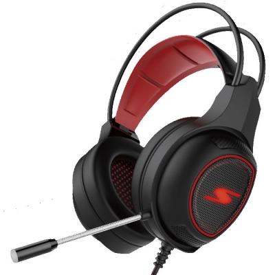 Auricular Para Gaming Negro Y Rojo