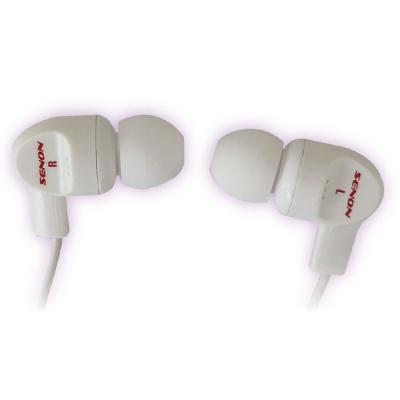 Auricular Con Control De Volumen. Blanco