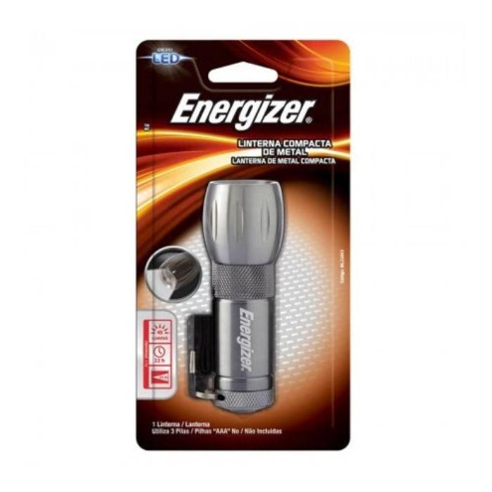 #linterna Energizer Compacta Metalica Linea Hogar