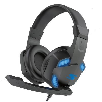 Auricular Gaming Negro Y Azul