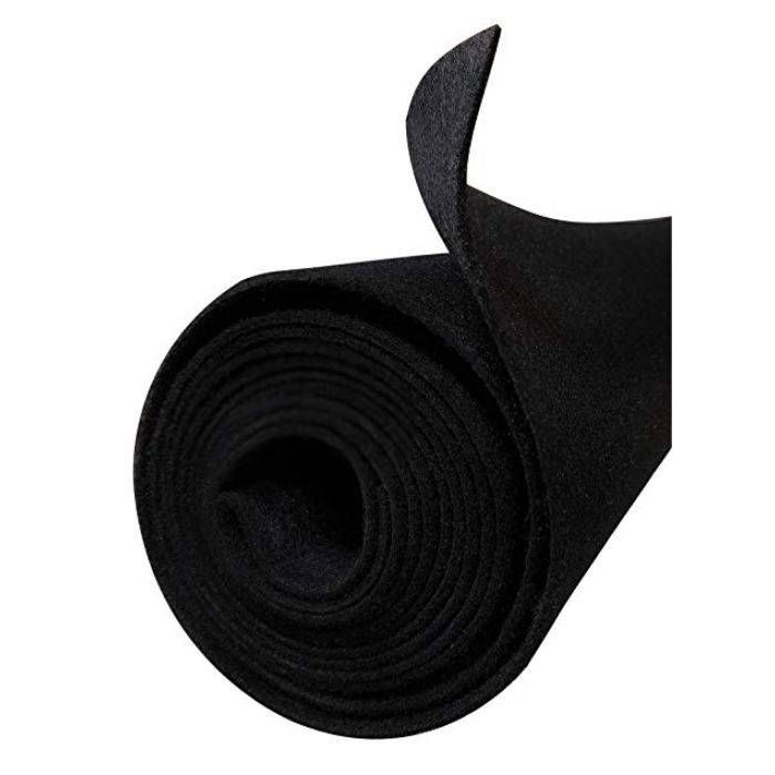 Rollo De Tapizado Negro De 2x50 Espesor 1.1mm