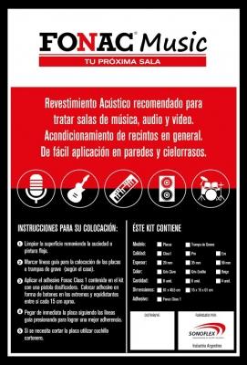 # Kit De 6 Placas Con Cuñas Anecoicas Autoextinguible, Placa:0.405x0.61m