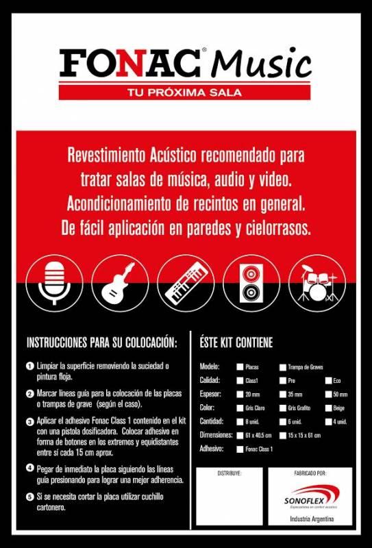 # Kit De 6 Placas Con Cuñas Anecoicas Inifuga Placa:0.405x0.61m